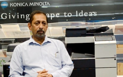 Interaction with V Balakrishnan, EGM Marketing, Konica Minolta