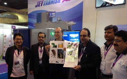 Konica Minolta Flaunts MGI JETvarnish 3DS with iFOIL at PAMEX 2015, Mumbai