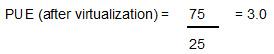 PUE after virtualization