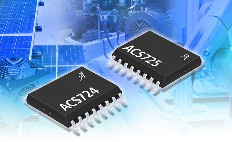Allegro MicroSystems ACS724KMA (5 V) and the ACS725KMA (3.3 V)