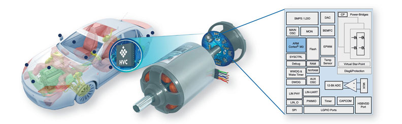 Electronics integration in the BLDC motor