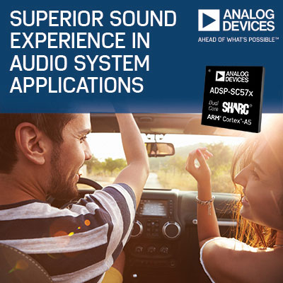 Analog Devices adds ADSP-SC57x and ADSP-2157x processors
