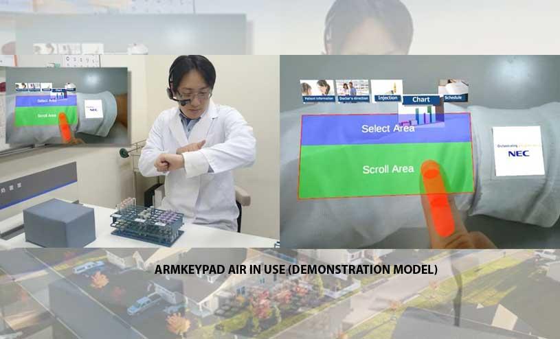 ArmKeypad Air in use