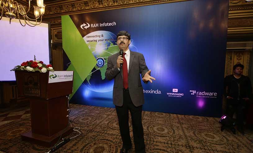Suchit Karnik addressing audiences