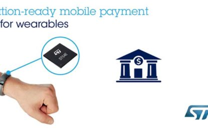 ST loops Mobile-Payment Partners to Create Turnkey, Certification-Ready Solution for Wearable Devices
