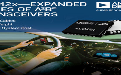 Analog Devices' Extended Series of A2B Transceivers Improves Bus-bandwidth Utilization