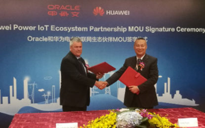 Huawei, Oracle Signs Power IoT Ecosystem Partnership MOU