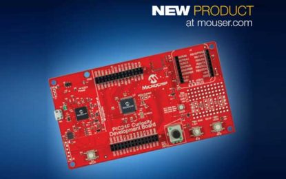 Mouser Electronics Now Ships Microchip 16-Bit PIC24F Curiosity Dev Board