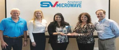 Mouser Receives Top Distribution Award from Amphenol SV Microwave