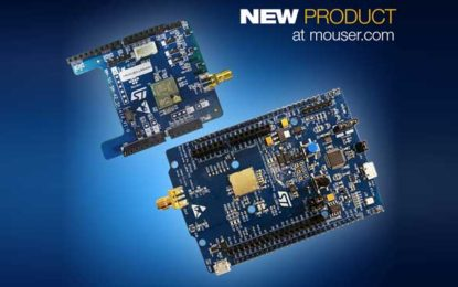 Mouser First to Stock the ST STM32 LoRaWAN Discovery Board