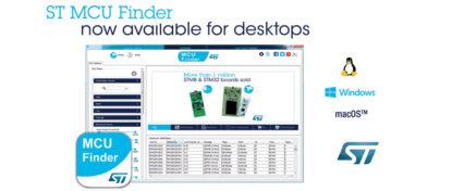 ST MCU Finder for PC Connects to STM32 and STM8 Design Resources Directly on Developer's Desktop
