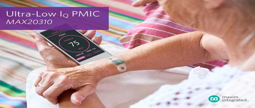 Maxim's PMIC Reduces Solution Size By 50% for Wearable Medical and Fitness Applications