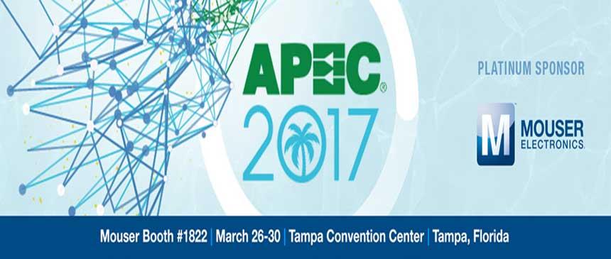 Mouser Electronics at APEC 2017