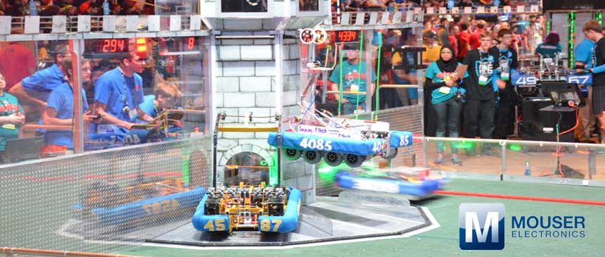 Mouser Electronics supports FIRST Robotics