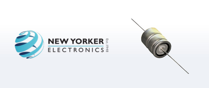New Yorker Electronics Now Ships New Ruggedized Axial-Leaded Aluminum Electrolytic Capacitor