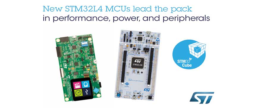 STMicroelectronics STM32L496 and STM32L4A6 microcontrollers