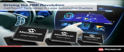 New Family of Microchip maXTouch Touchscreen Controllers Tailored for Large Screen Automotive HMI Designs
