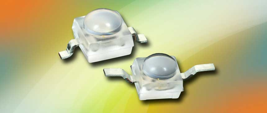 Vishay Releases Compact Super Red, Red, Amber, and Yellow Ultrabright LEDs in Compact Packages With Dome Lenses