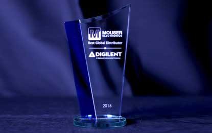 Mouser Electronics Named Best Global Distributor by Digilent
