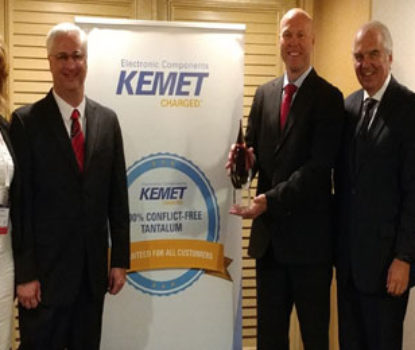 Mouser Electronics Named High Service Distributor of the Year by KEMET