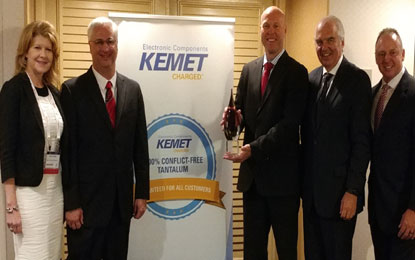 Mouser Electronics High Service Distributor of the Year award from KEMET