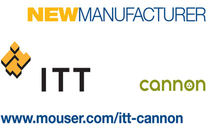 Mouser Electronics global distribution agreement with ITT Cannon