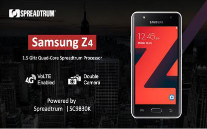 Spreadtrum LTE Chipset Powers Samsung Z4 Tizen LTE Smartphone