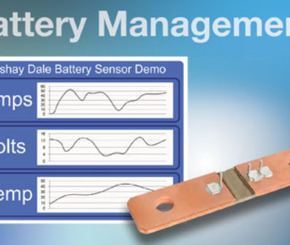 Vishay Intertechnology WSBS8518…40 Power Metal Strip Battery Shunt Resistor Improves Accuracy, Provides Consistent Contact Location