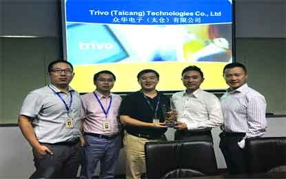 Digi-key Wins Trivo Award for Best Supplier of The Year