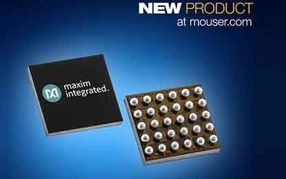 Mouser Now Stocking Maxim's MAX30004  Biopotential Heart Rate Analog Front-End