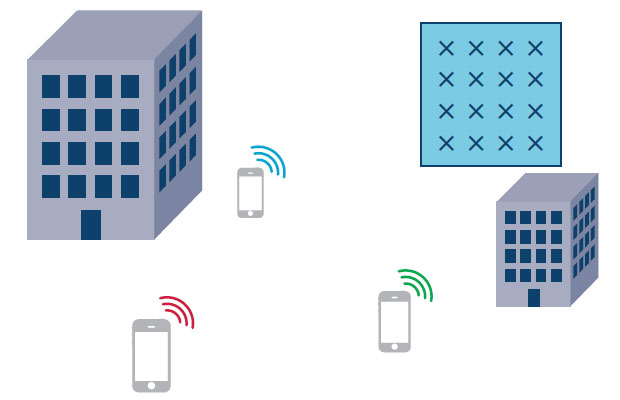 Each user terminal transmits