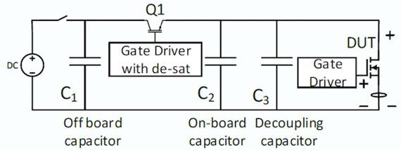 Short circuit test circuit schematic