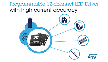 ST's New Programmable 12-channel RGB-LED Driver