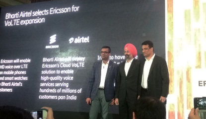 Bharti Airtel Selects Ericsson for VoLTE Expansion