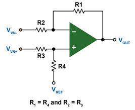 Discrete difference amplifier
