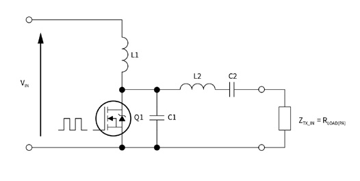 Single-ended class E amplifier