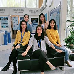 Cherry Jiang(Line1) and her team, Mornsun