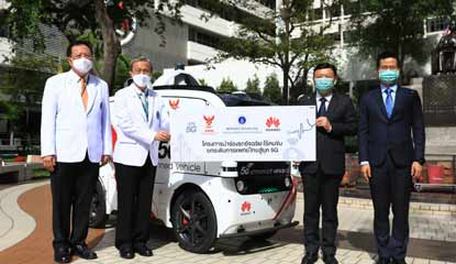 Huawei Pilots 5G Unmanned Vehicle in Thailand Smart Hospital